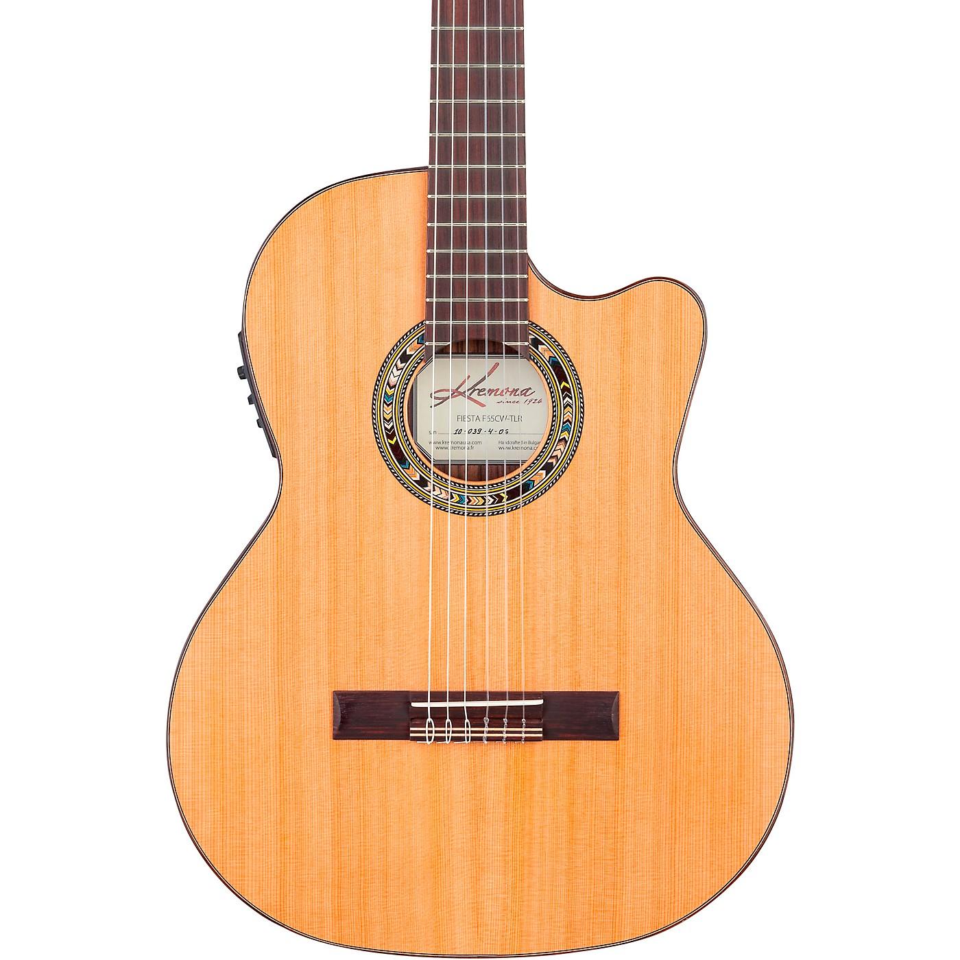 Kremona F65CW TL Thin Bodied Nylon-String Acoustic-Electric Guitar thumbnail