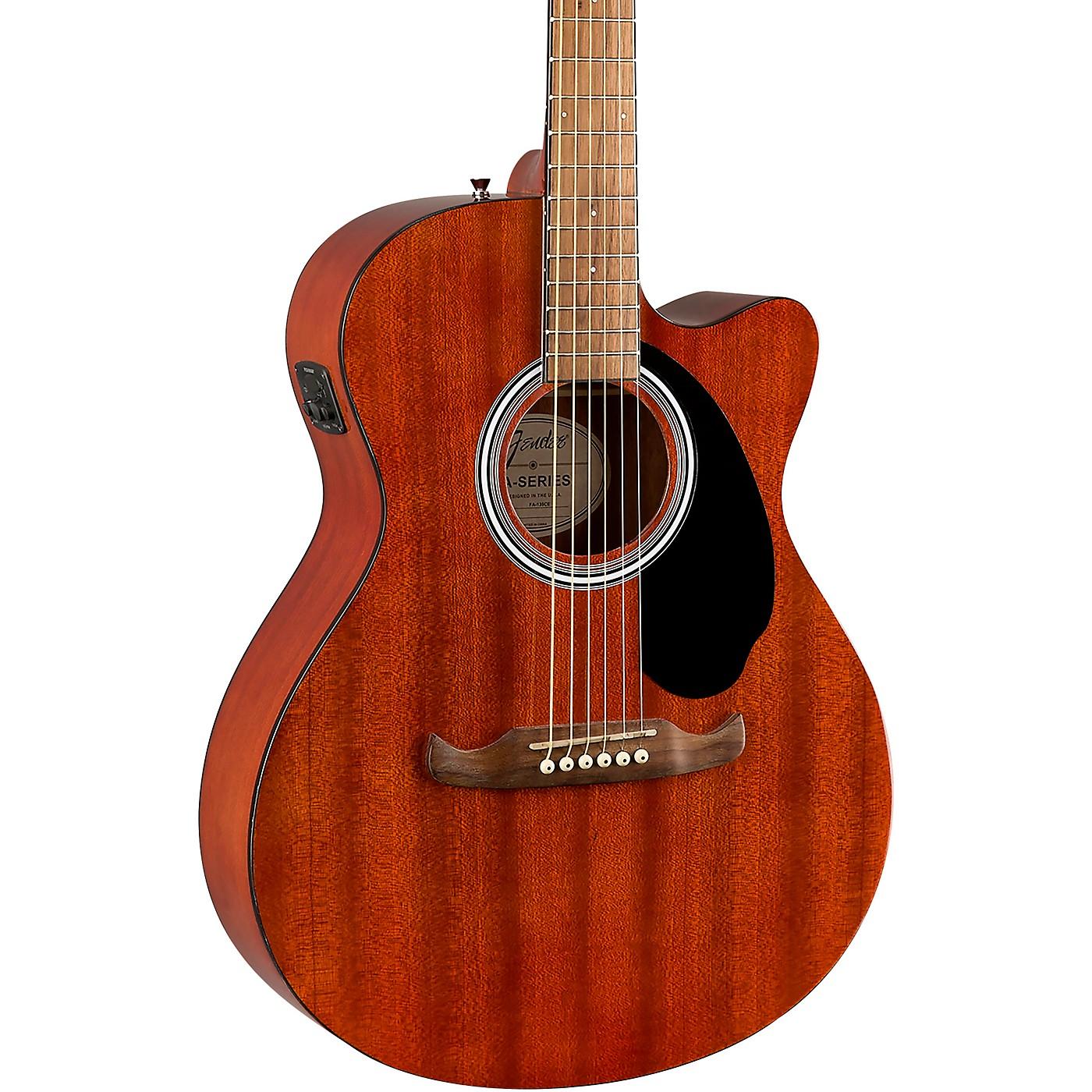 Fender FA-135CE All-Mahogany Concert Acoustic-Electric Guitar thumbnail