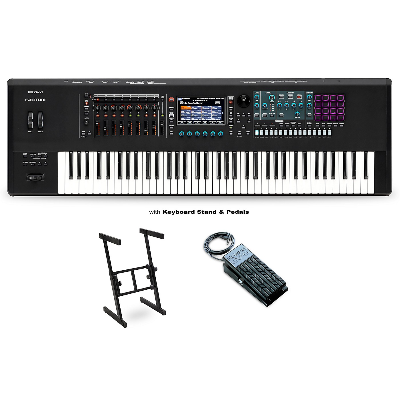 Roland FANTOM-7 Workstation with EV-5 Pedal and Z Stand thumbnail