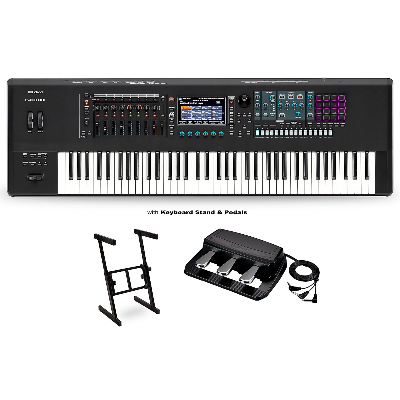 Roland FANTOM-7 Workstation with RPU-3 Pedal and Z Stand thumbnail