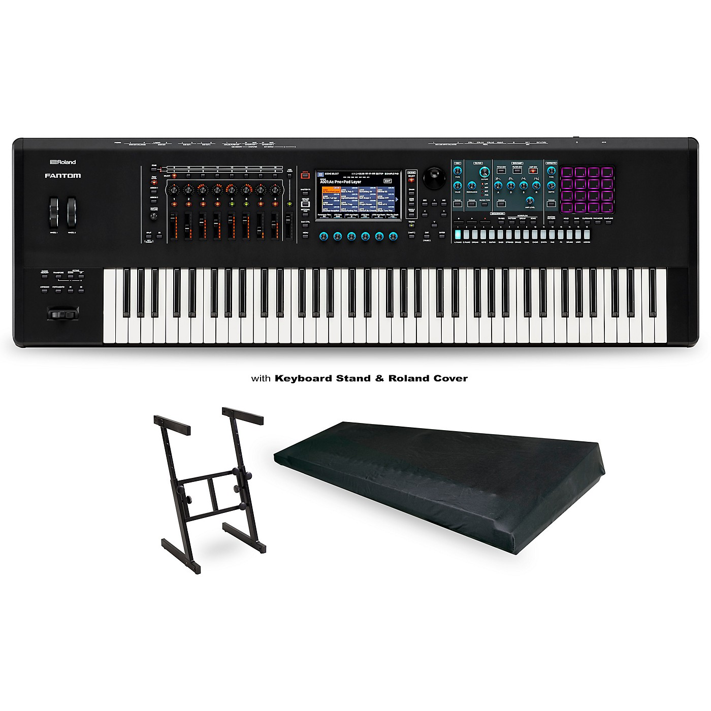 Roland FANTOM-7 Workstation with Z Stand and Large Dust Cover thumbnail