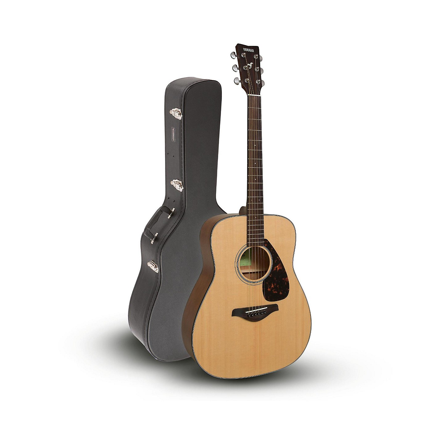 Yamaha FG800 Folk Acoustic Guitar Natural with Road Runner RRDWA  Case thumbnail