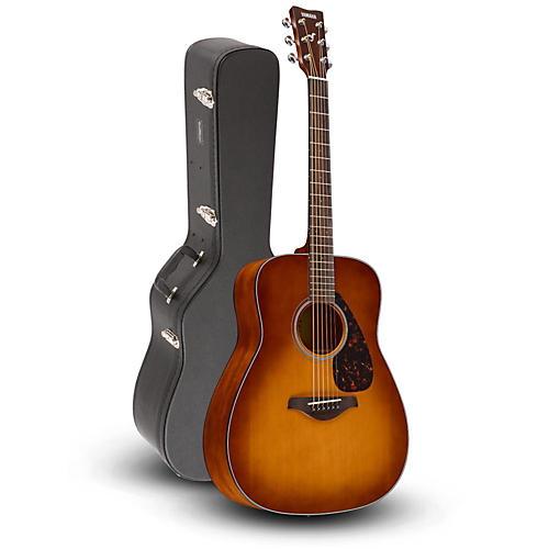 Yamaha FG800 Folk Acoustic Guitar Sand Burst with Road Runner RRDWA Case thumbnail