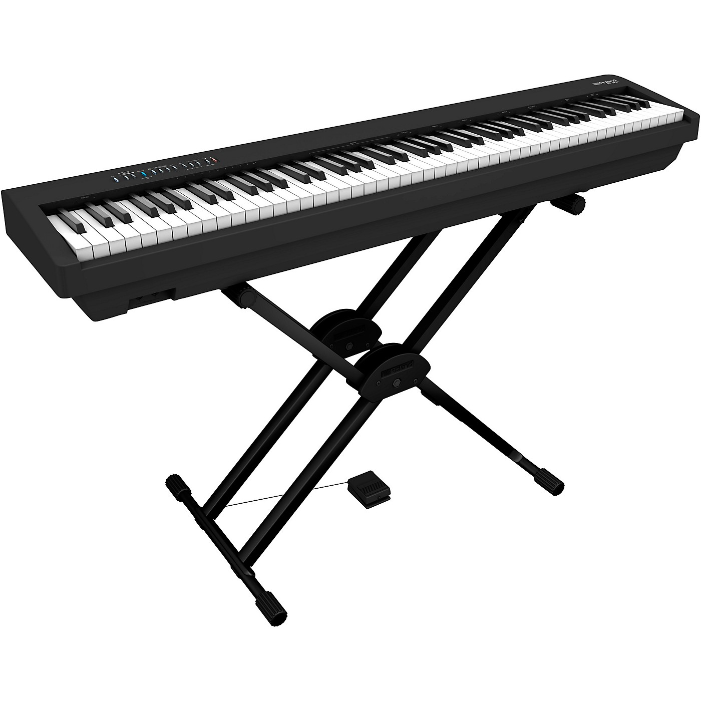 Roland FP-30X Digital Piano with Roland Double Brace X-Stand and DP-2 Pedal thumbnail