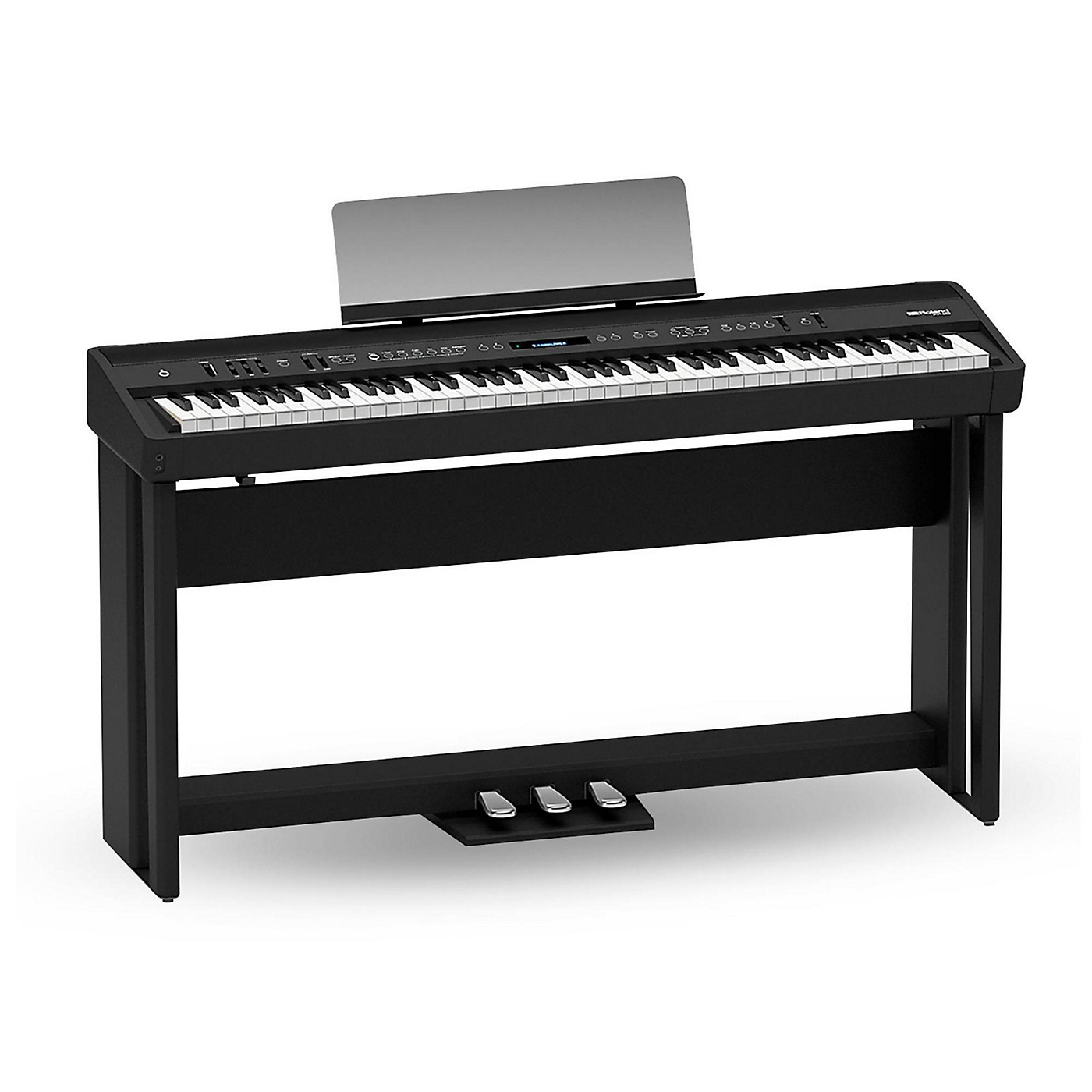 Roland FP-90 Digital Piano Black With Stand and Pedal Board thumbnail