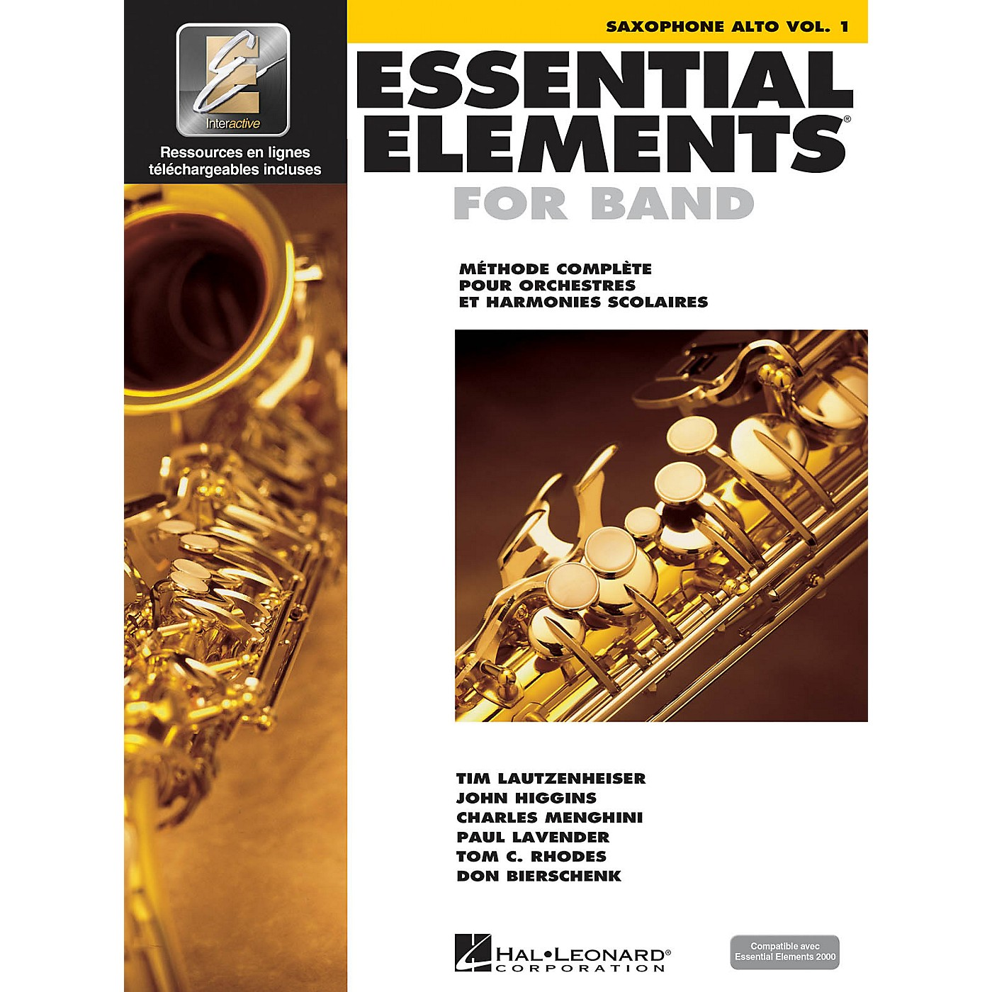 Hal Leonard FRENCH EDITION Essential Elements EE2000 Alto Saxophone (Book/Online Media) thumbnail