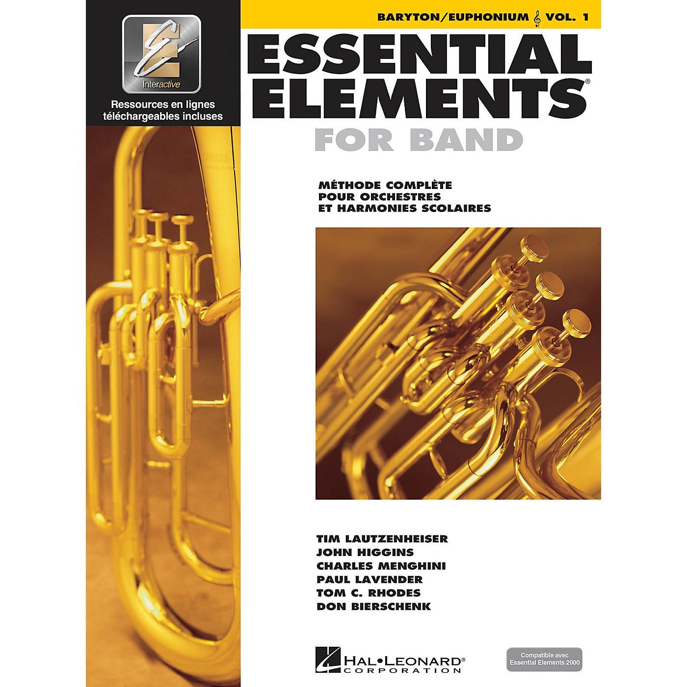 Hal Leonard FRENCH EDITION Essential Elements EE2000 Baritone/Euphonium T.C. (Book/Online Media) thumbnail