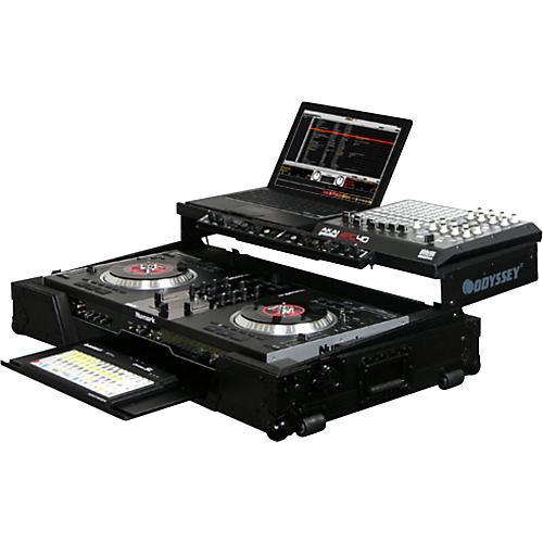 Odyssey FZGSNS7WFXBL Glide Style DJ Coffin Case for Numark NS7FX thumbnail