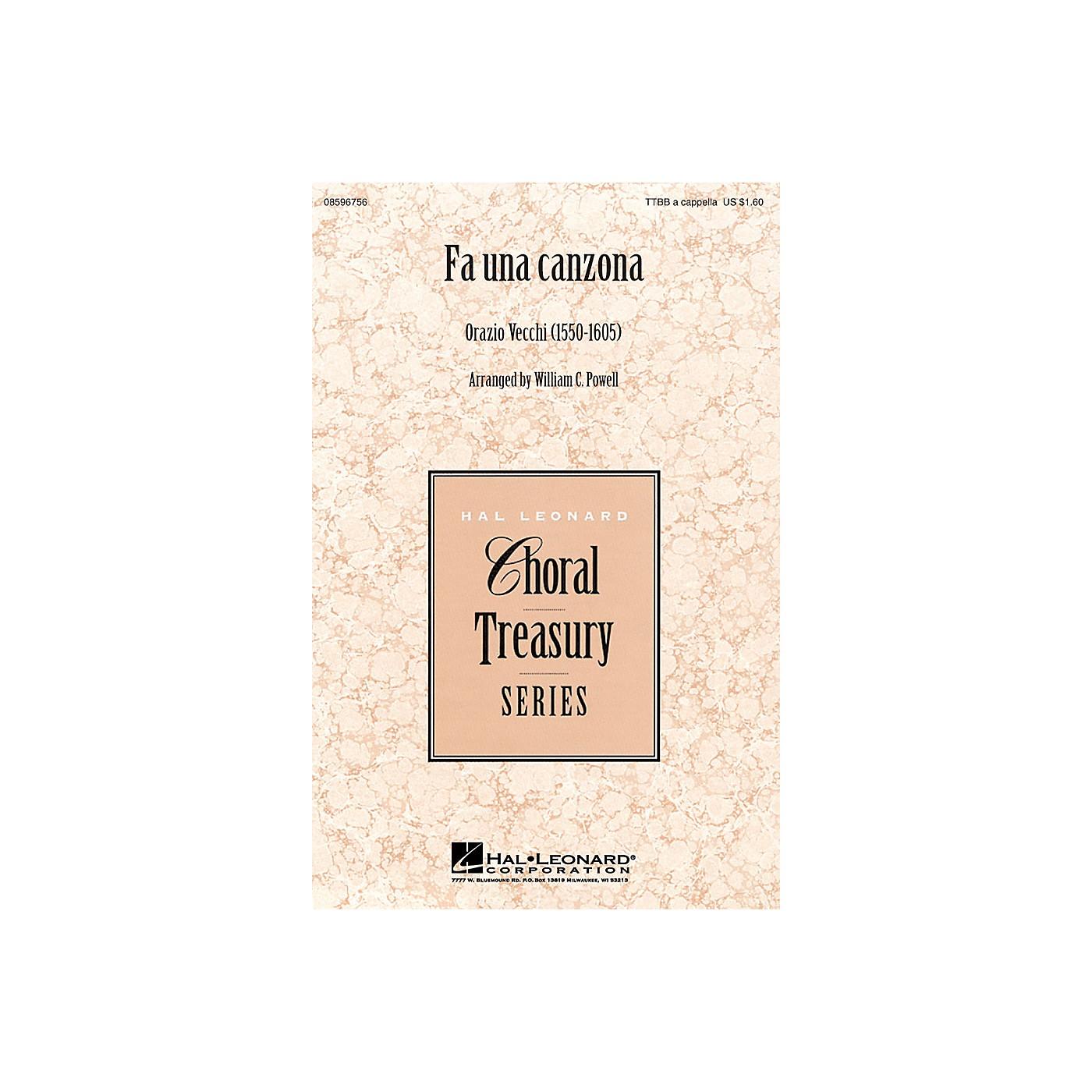 Hal Leonard Fa Una Canzona TTBB A Cappella arranged by William Powell thumbnail