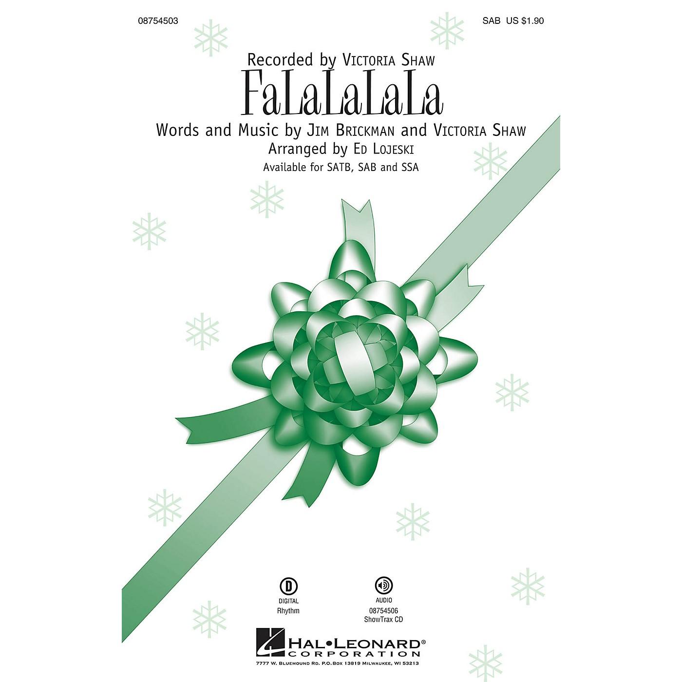 Hal Leonard FaLaLaLaLa SAB by Victoria Shaw arranged by Ed Lojeski thumbnail