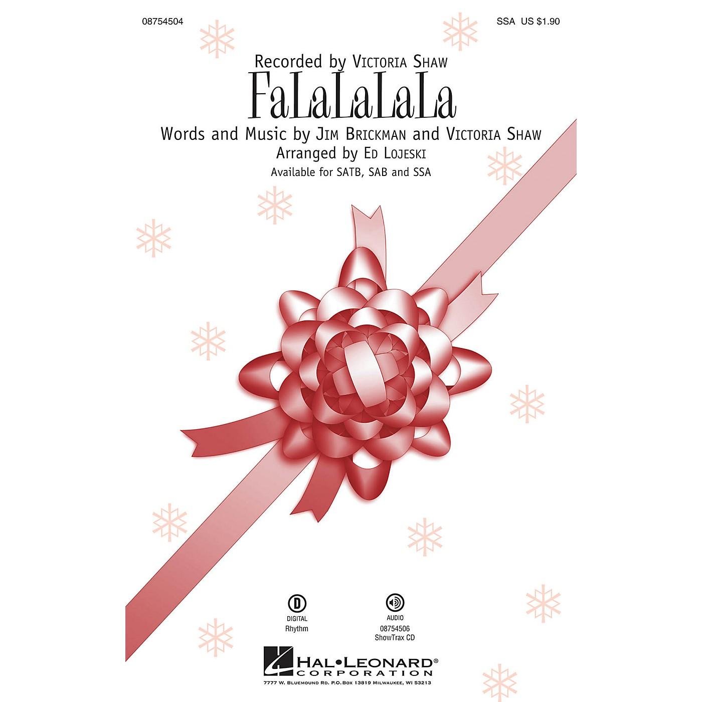 Hal Leonard FaLaLaLaLa SSA by Victoria Shaw arranged by Ed Lojeski thumbnail