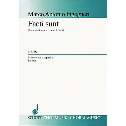 Schott Facti Sunt TTBB Composed by Marco Antonio Ingegneri thumbnail