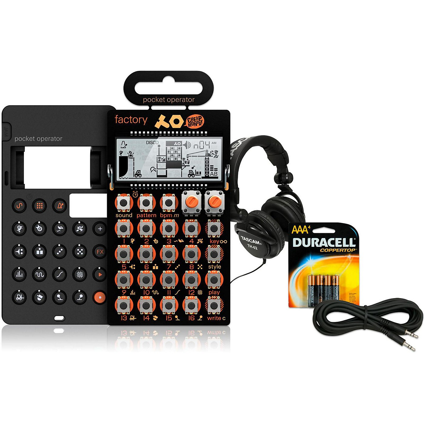 Teenage Engineering Factory Pocket Operator with Case, Batteries, Headphones and Cable thumbnail
