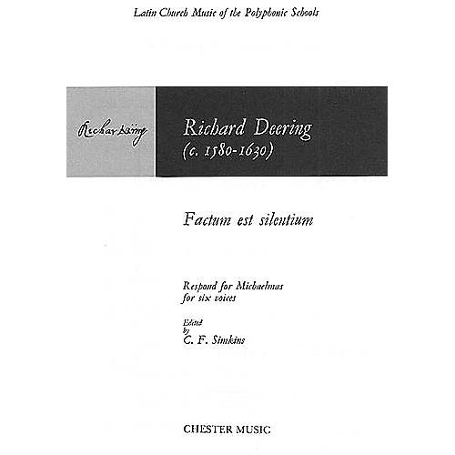 Chester Music Factum est Silentium SSATTB Composed by Richard Dering Arranged by C. F. Simkins thumbnail