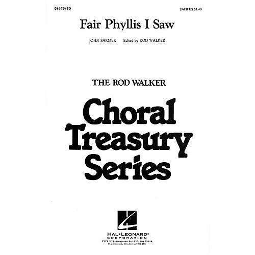 Hal Leonard Fair Phyllis I Saw SATB arranged by Rod Walker thumbnail