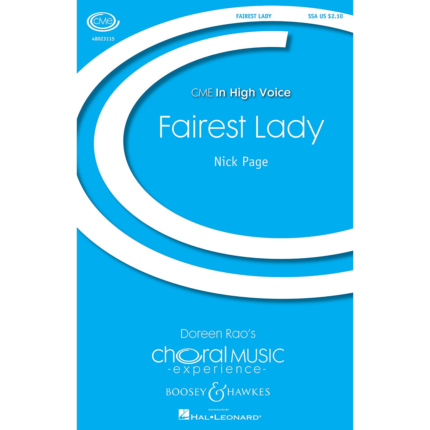 Boosey and Hawkes Fairest Lady (CME In High Voice) SSA composed by Nick Page thumbnail