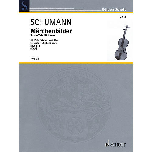 Schott Fairy-Tale Pictures, Op. 113 Viola and Piano - String Solo thumbnail