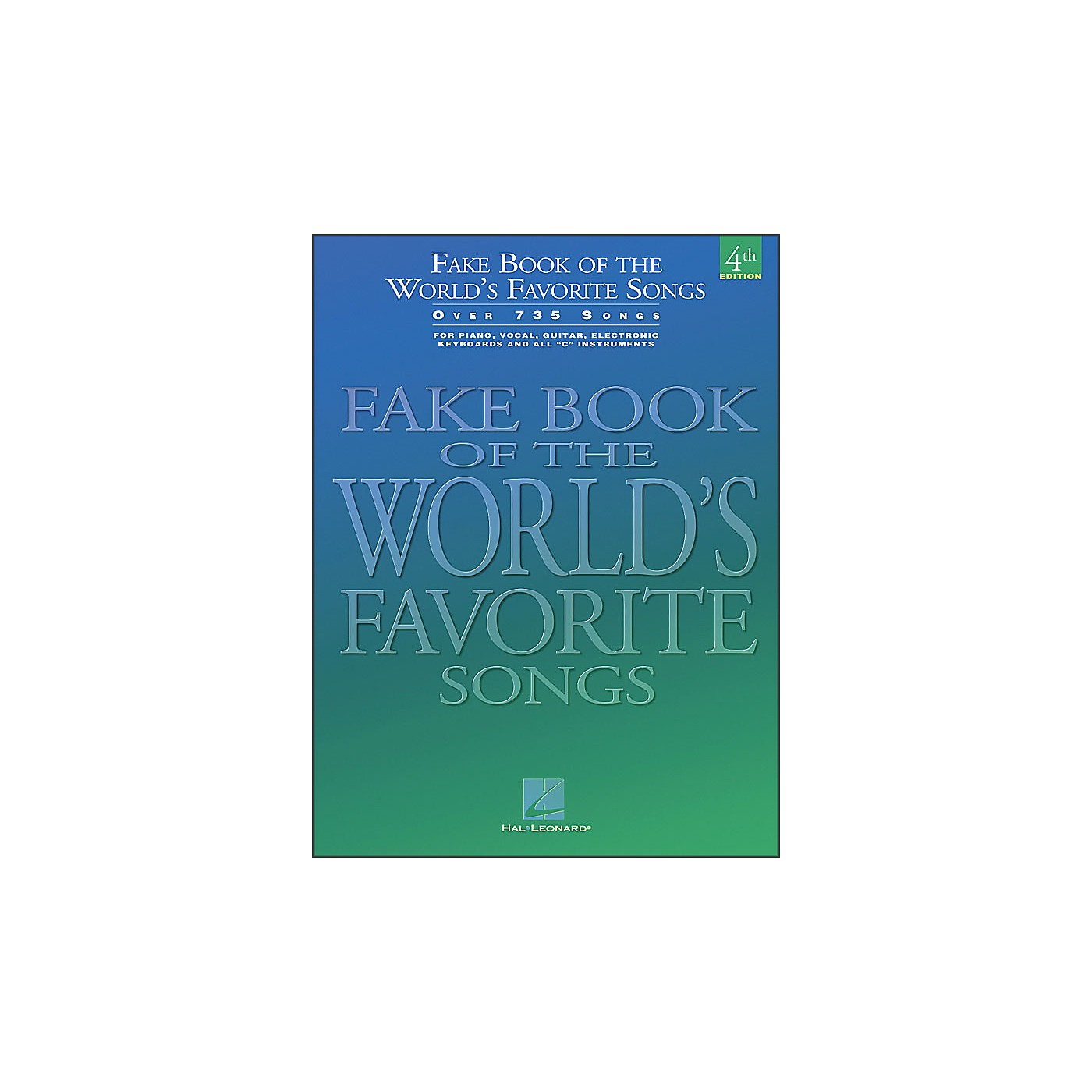 Hal Leonard Fake Book Of The World's Favorite Songs 4th Edition - Over 735 Songs thumbnail