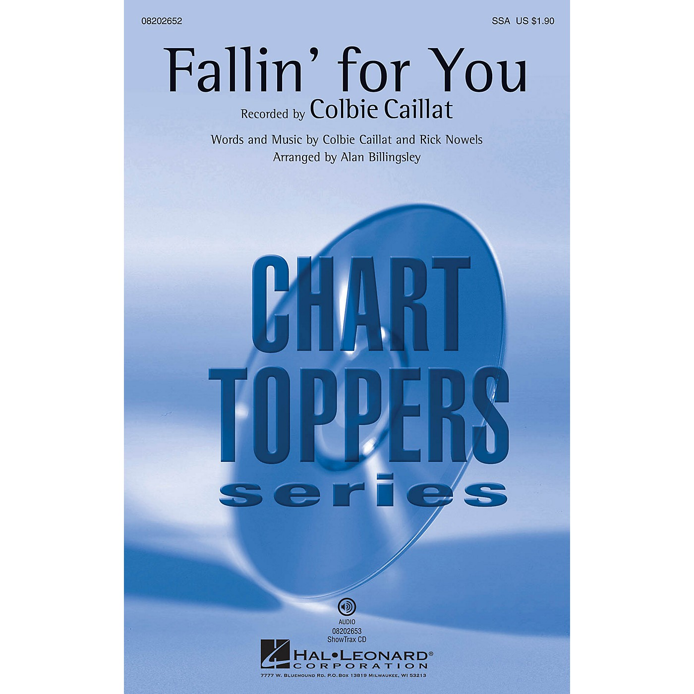 Hal Leonard Fallin' for You ShowTrax CD by Colbie Caillat Arranged by Alan Billingsley thumbnail