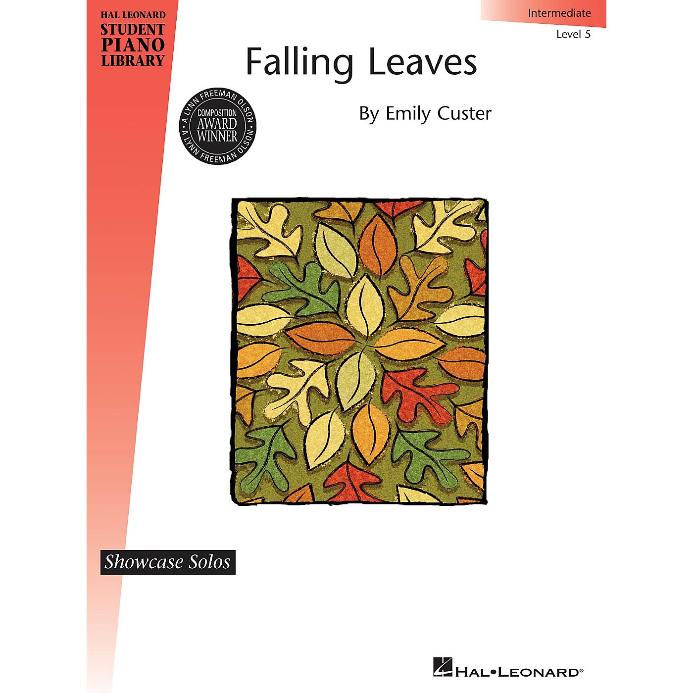 Hal Leonard Falling Leaves Piano Library Series Book by Emily Custer (Level Inter) thumbnail
