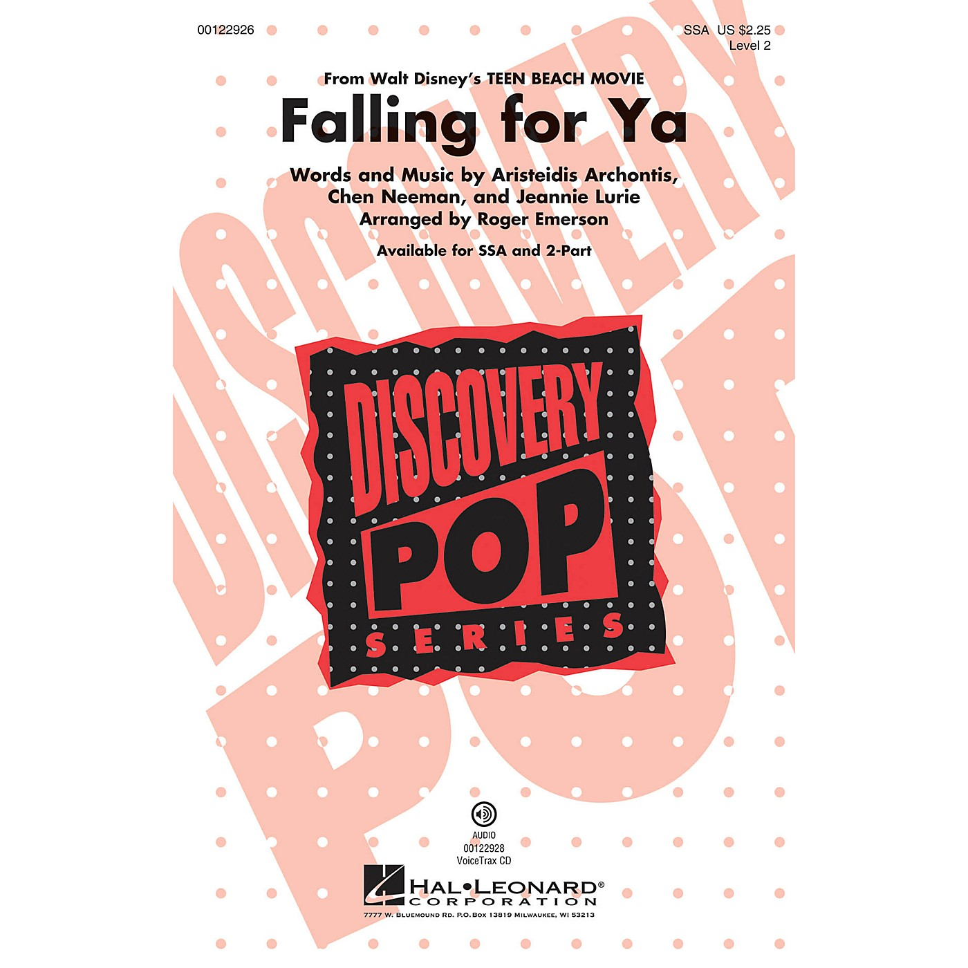 Hal Leonard Falling for Ya (from Disney Teen Beach Movie Discovery Level 2) SSA arranged by Roger Emerson thumbnail