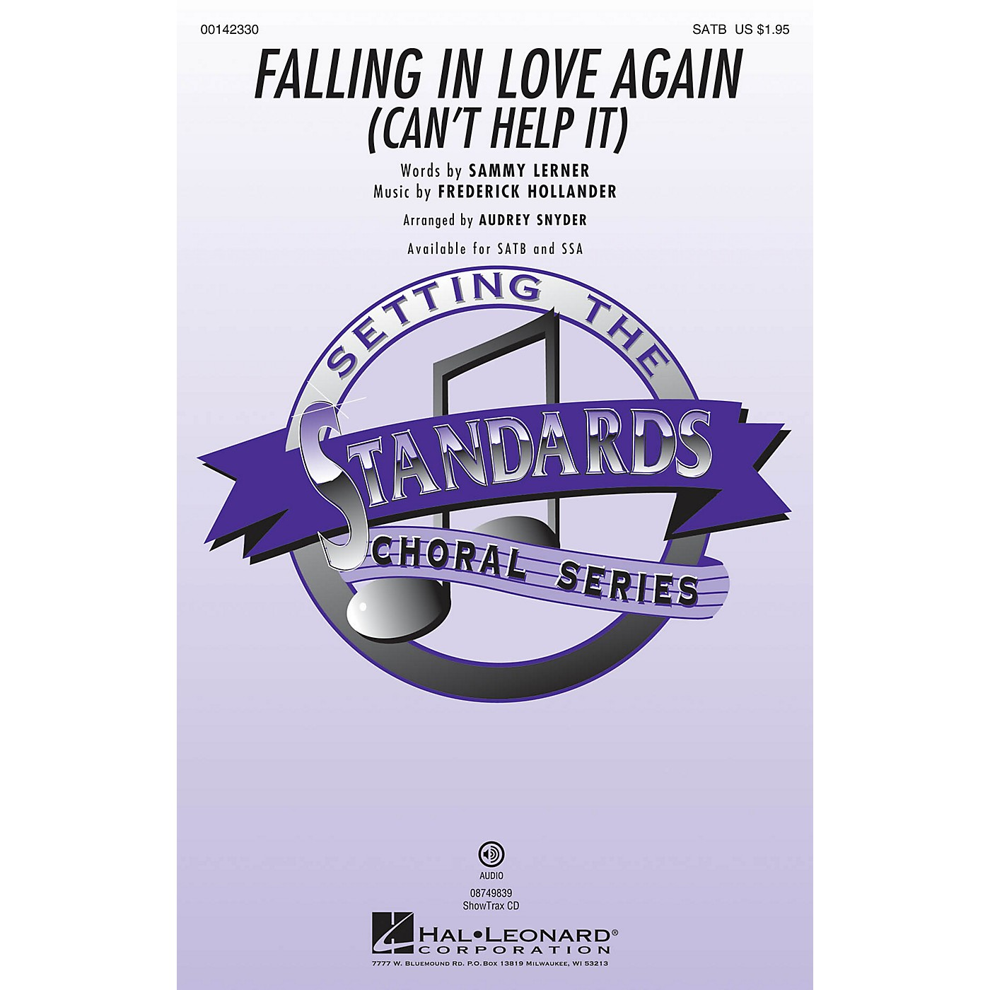 Hal Leonard Falling in Love Again (Can't Help It) ShowTrax CD Arranged by Audrey Snyder thumbnail