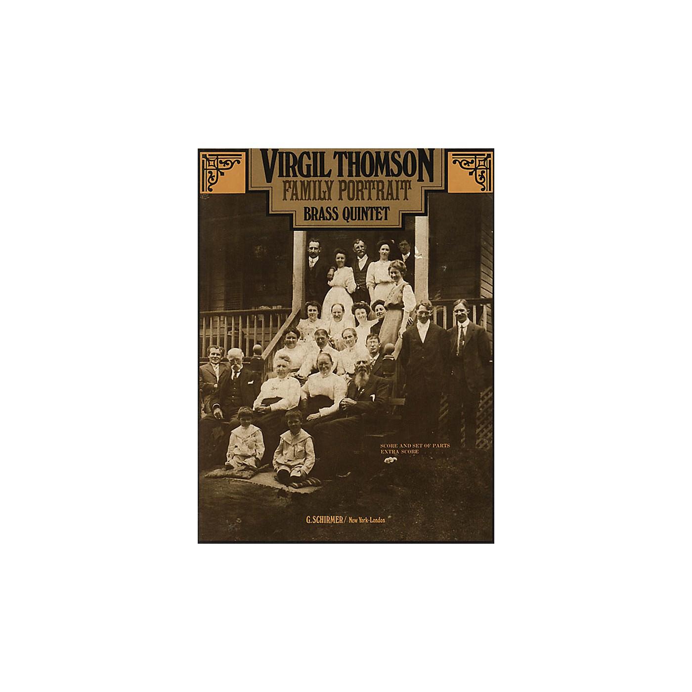 G. Schirmer Family Portrait (Score and Parts) Brass Ensemble Series by Virgil Thomson thumbnail