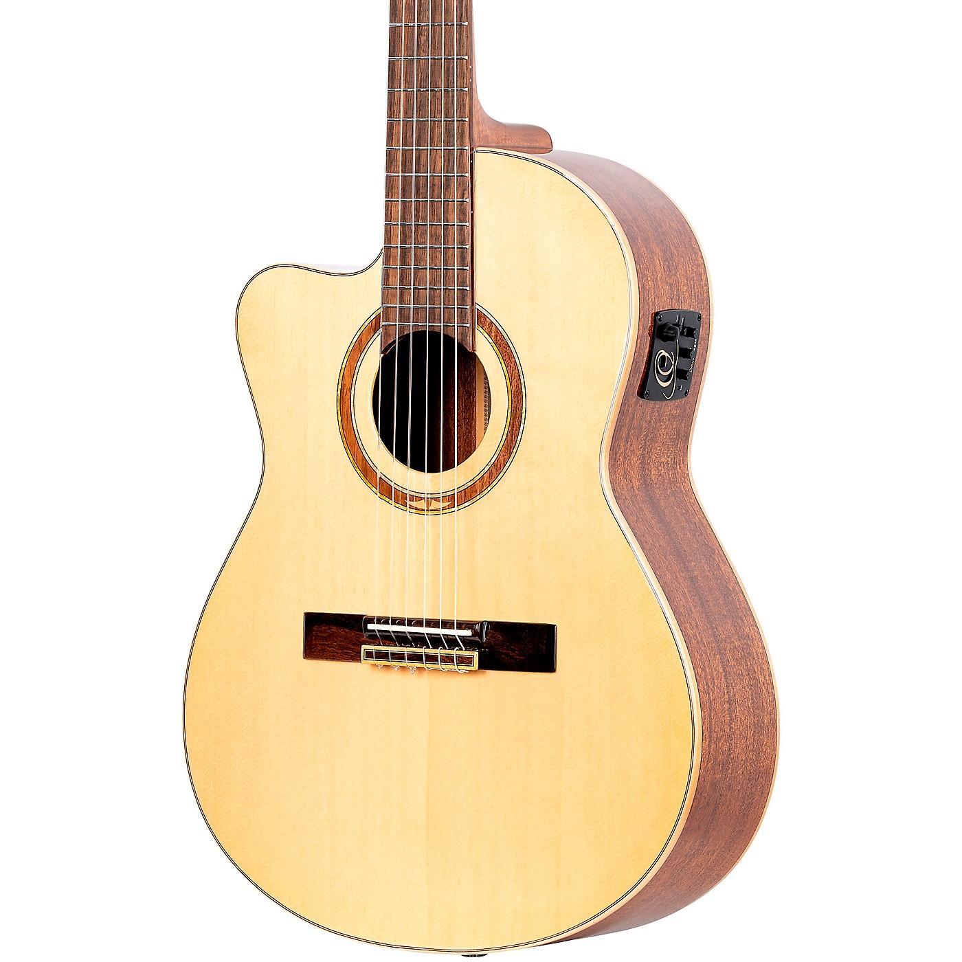 Ortega Family Series Pro RCE138-T4-L Thinline Acoustic Electric Nylon Guitar thumbnail