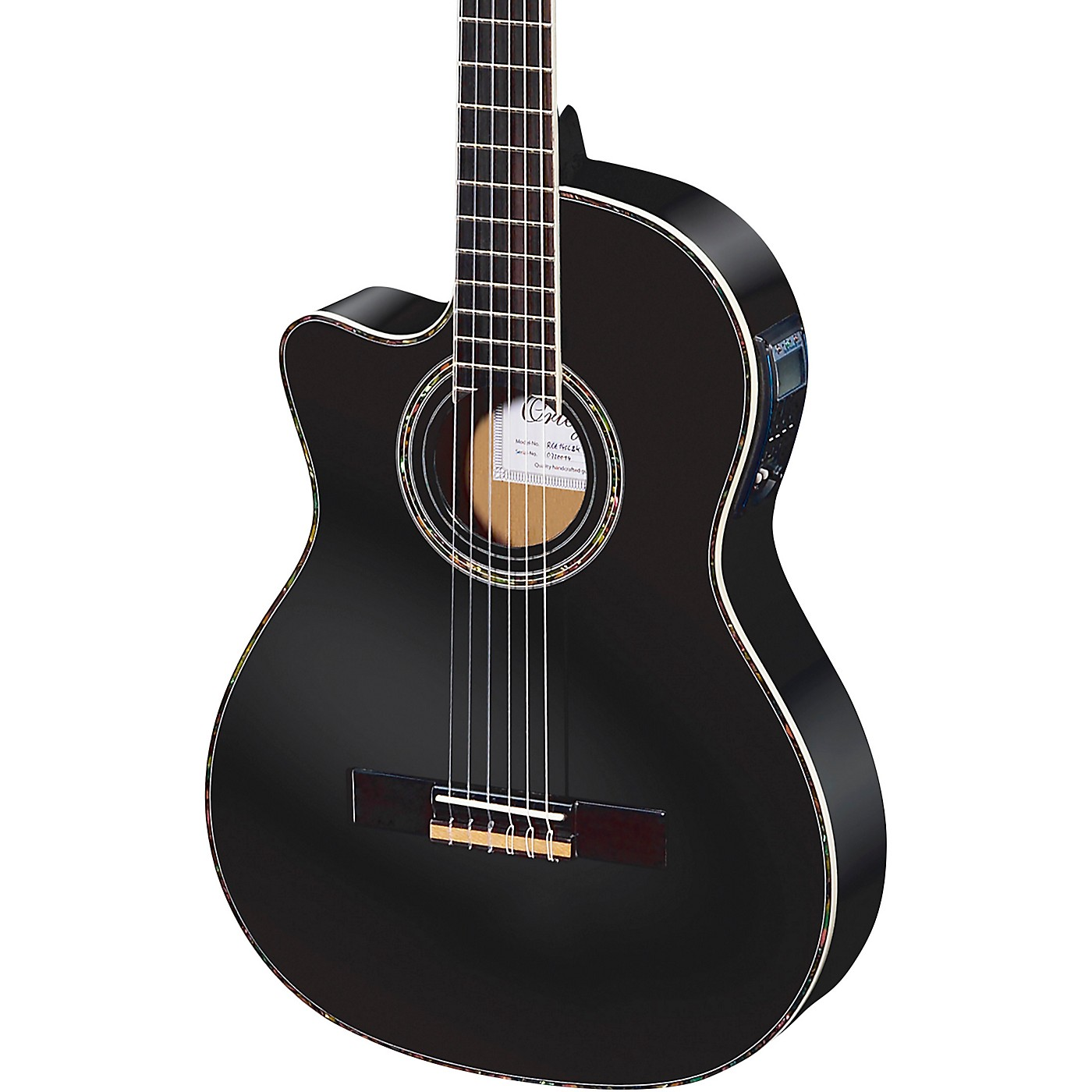 Ortega Family Series Pro RCE145LBK Thinline Acoustic-Electric Left-Handed Nylon Guitar thumbnail