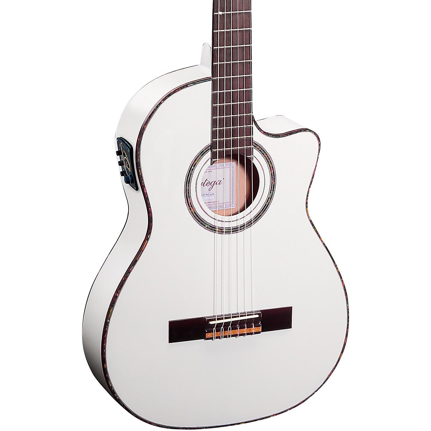 Ortega Family Series Pro RCE145WH Thinline Acoustic Electric Nylon Guitar thumbnail
