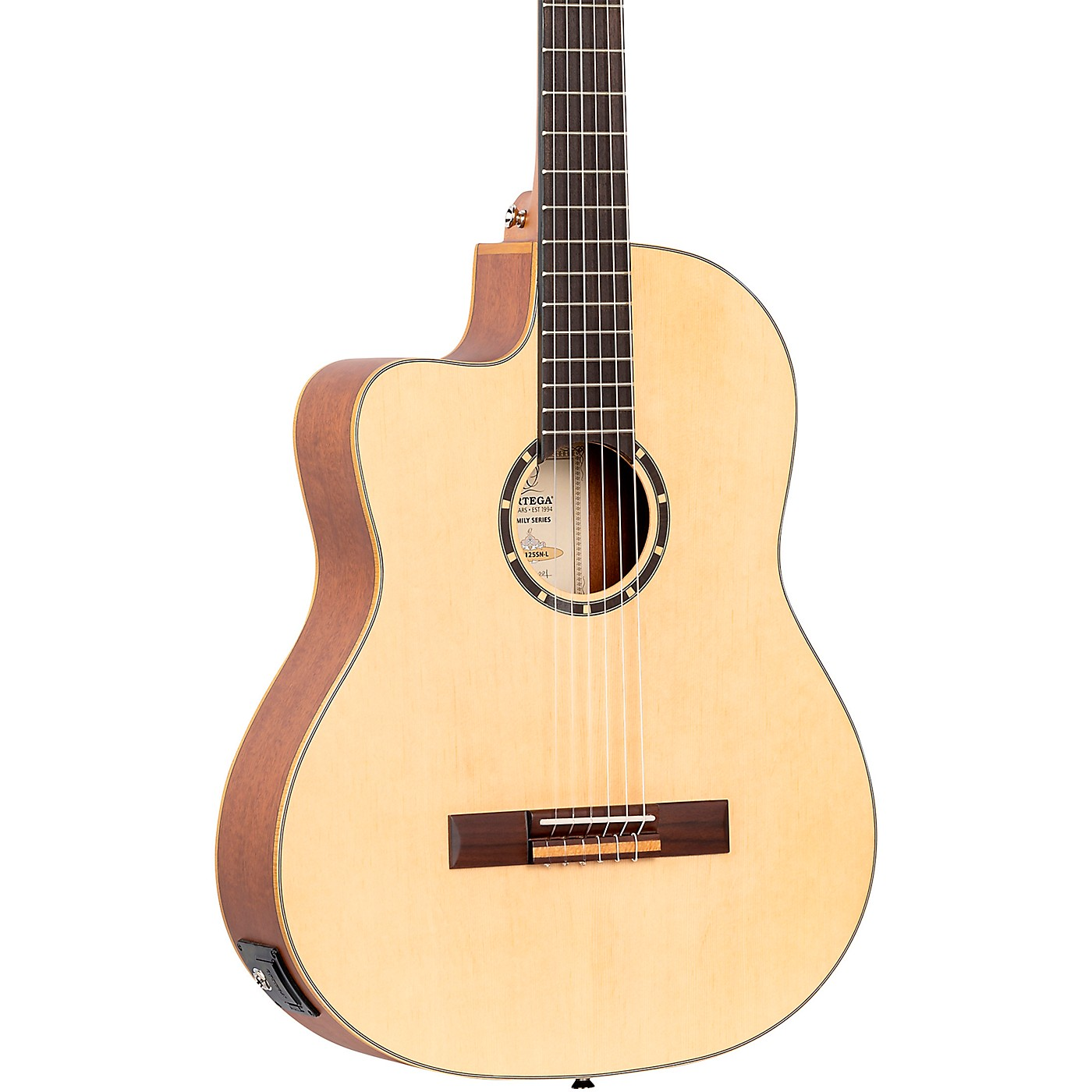 Ortega Family Series RCE125SN-L Thinline Acoustic/Electric Classical Guitar thumbnail