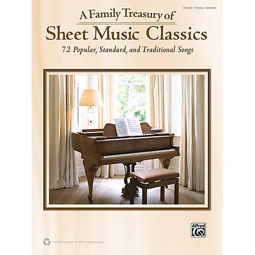 Alfred Family Treasury of Sheet Music Classics Book thumbnail