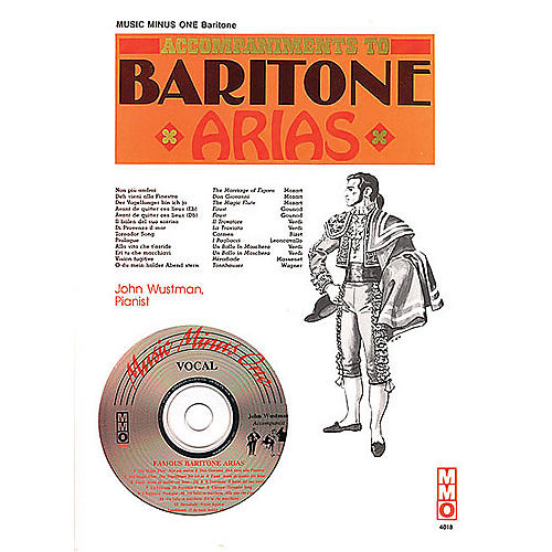Music Minus One Famous Baritone Arias Music Minus One Series Softcover with CD  by Various thumbnail