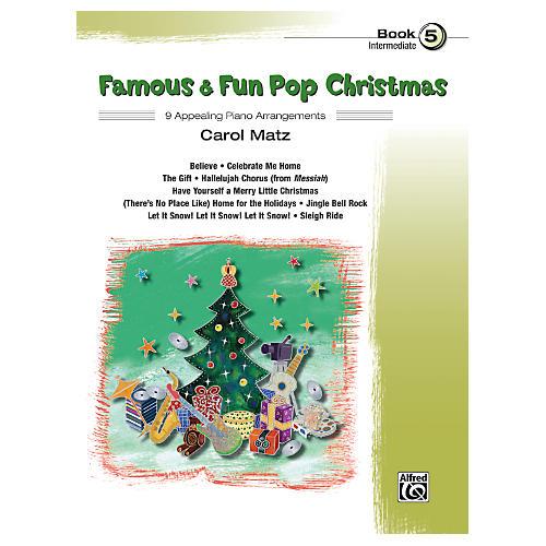 Alfred Famous & Fun Pop Christmas Book 5 thumbnail