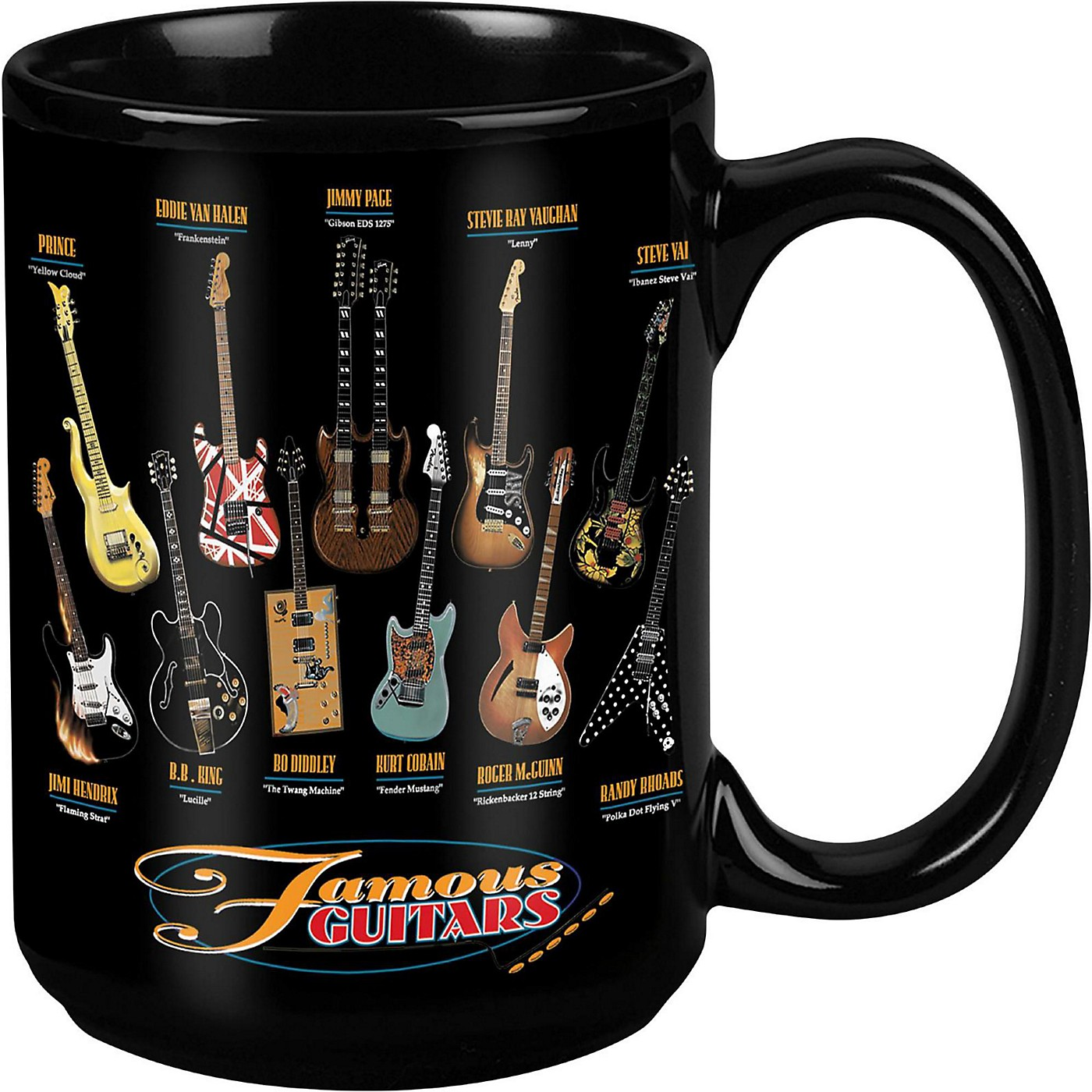 Taboo Famous Guitars Black Mug 15 oz thumbnail