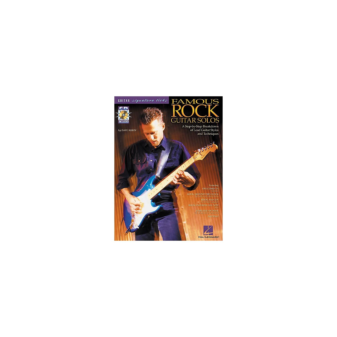 Hal Leonard Famous Rock Guitar Solos Signature Licks Book with CD thumbnail