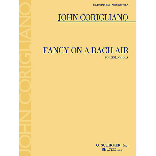 G. Schirmer Fancy on a Bach Air (for Viola Solo) String Series Softcover thumbnail