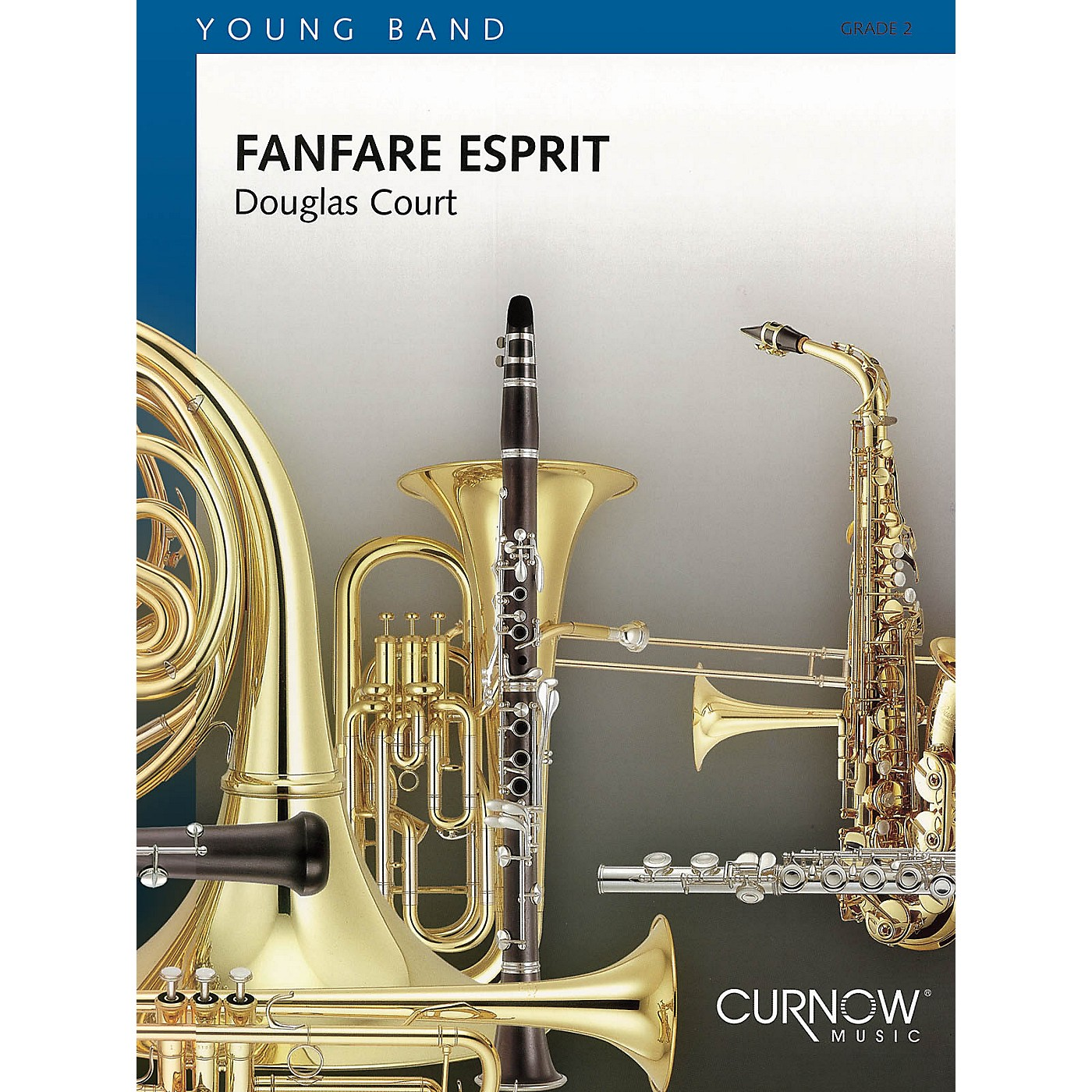 Curnow Music Fanfare Esprit (Grade 2 - Score Only) Concert Band Level 2 Composed by Douglas Court thumbnail