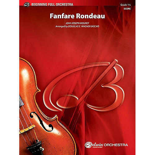 Alfred Fanfare Rondeau Full Orchestra Grade 1.5 Set thumbnail