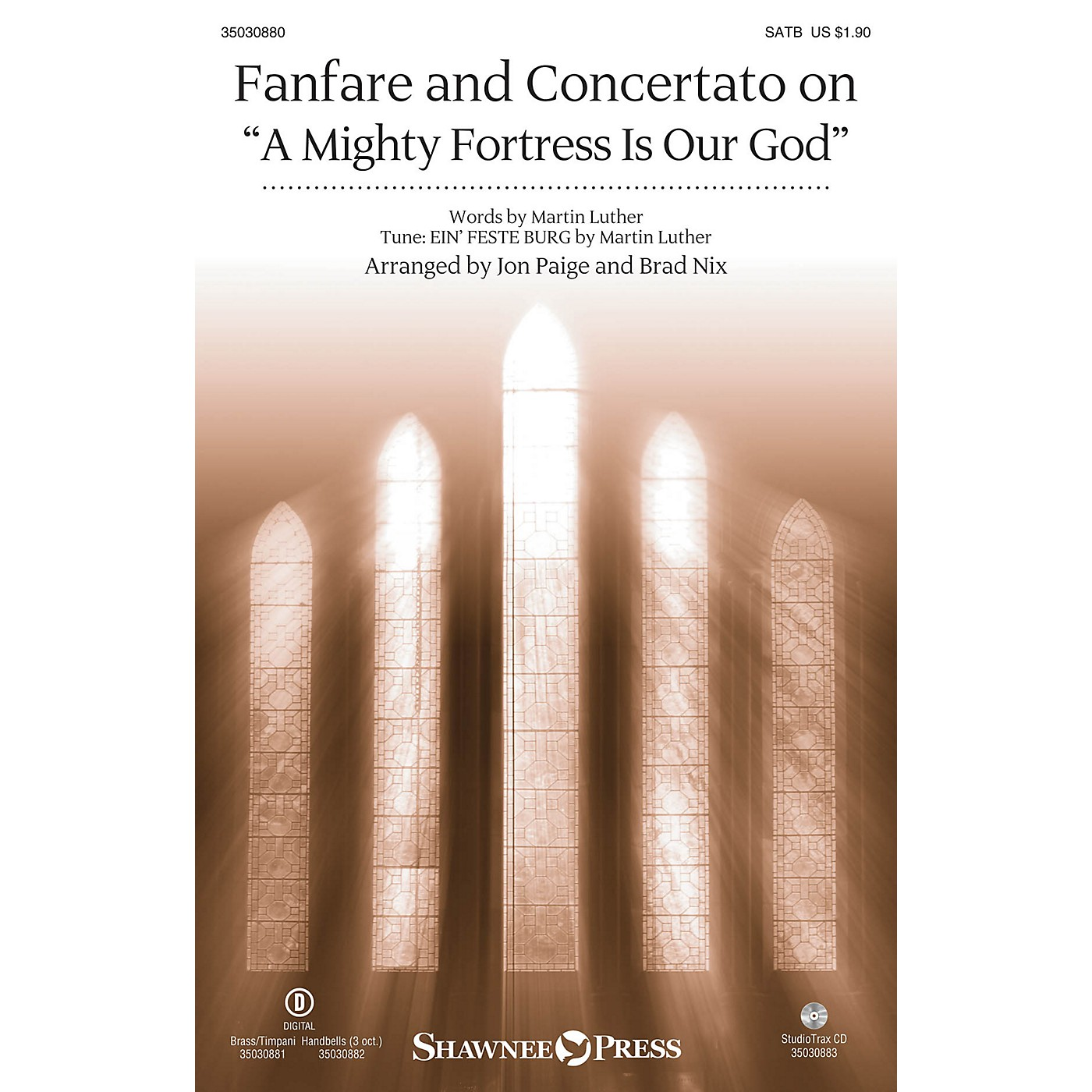 Shawnee Press Fanfare and Concertato on A Mighty Fortress Is Our God Studiotrax CD Arranged by Jon Paige thumbnail