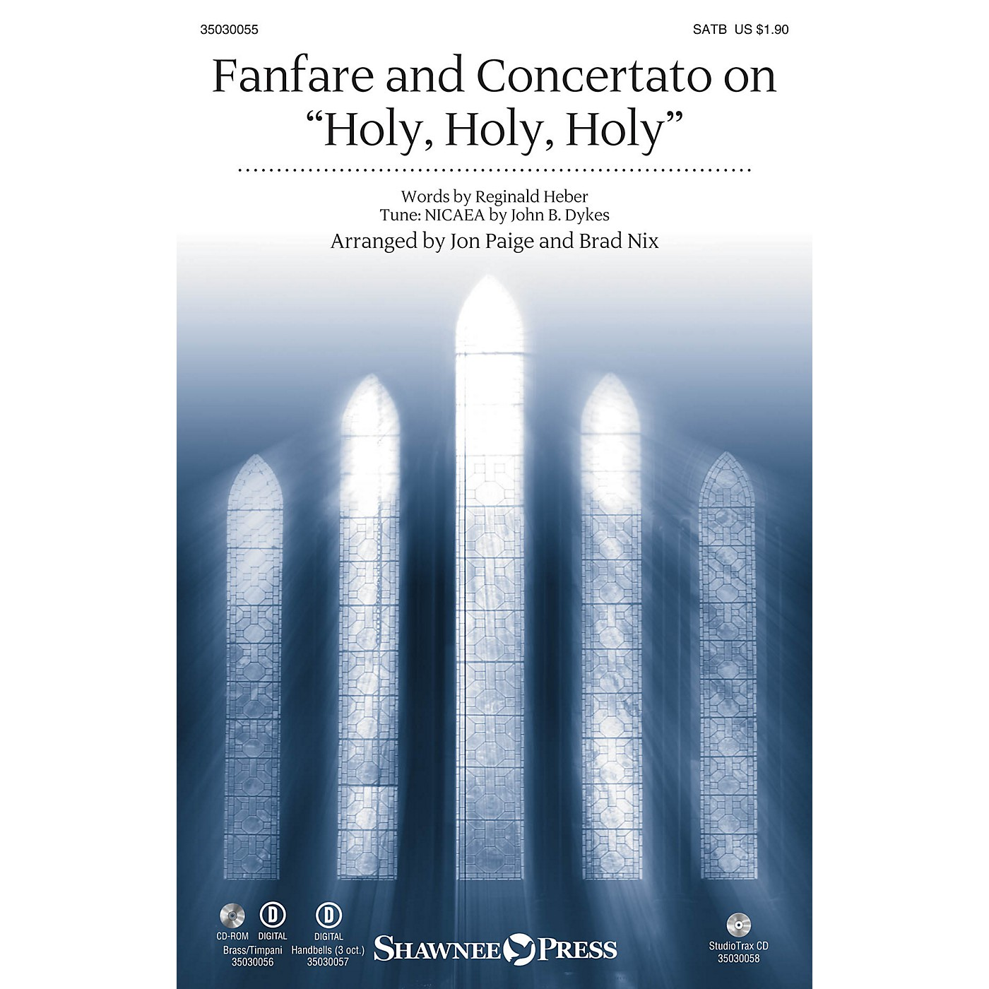 Shawnee Press Fanfare and Concertato on Holy, Holy, Holy Studiotrax CD Arranged by Jon Paige thumbnail