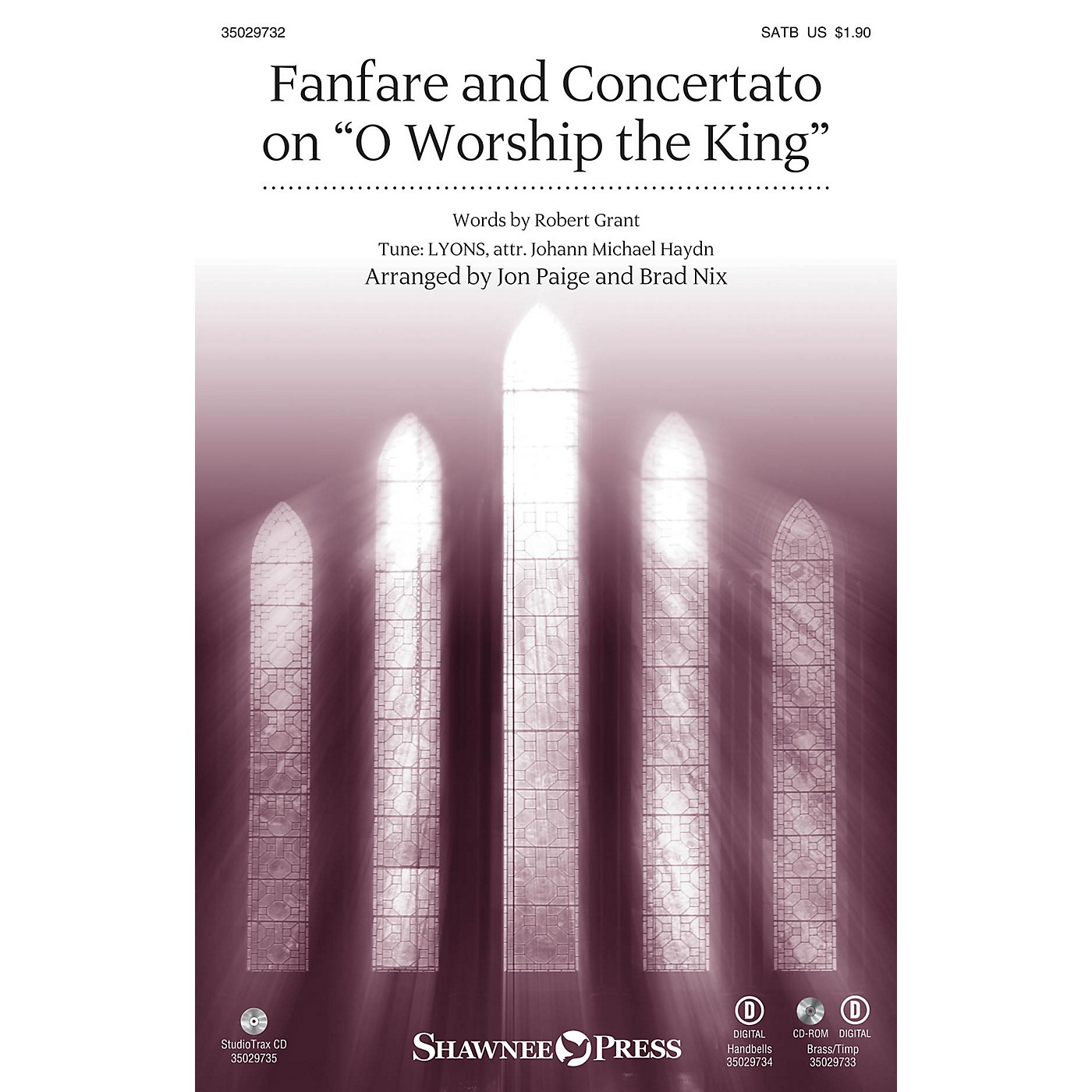 Shawnee Press Fanfare and Concertato on O Worship the King SATB/CONGREGATION arranged by Jon Paige thumbnail