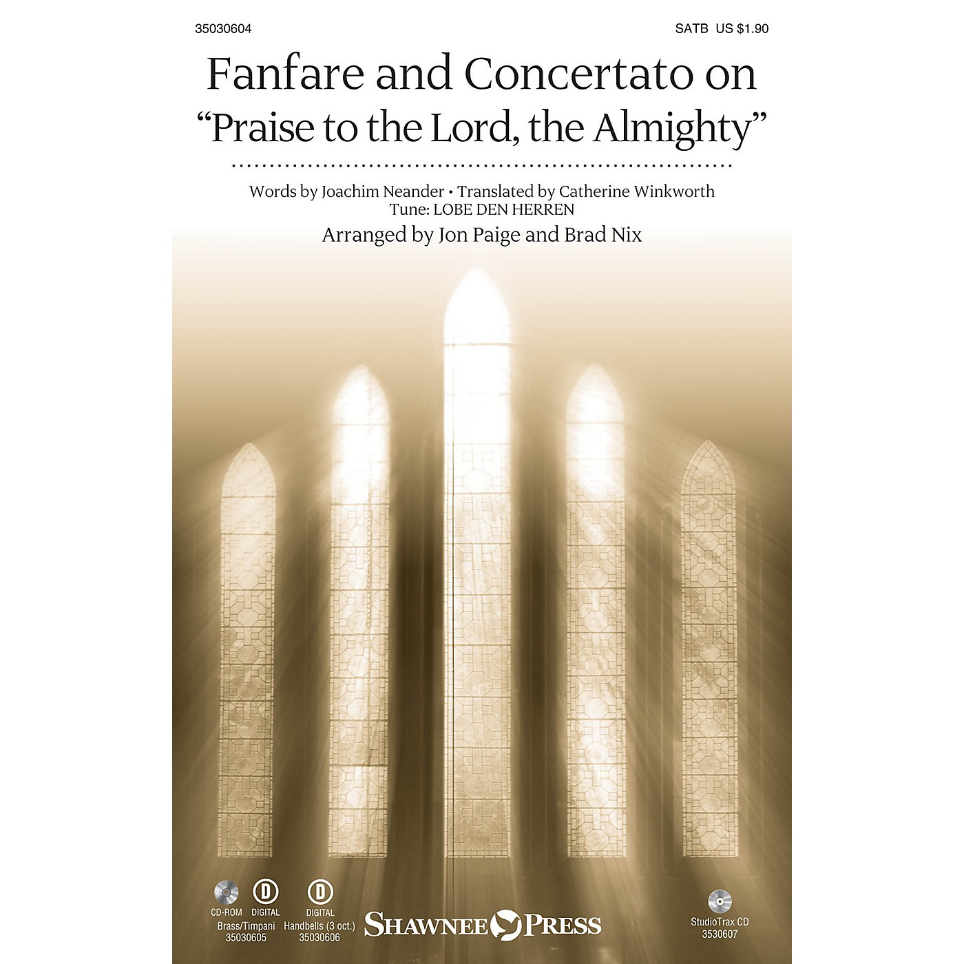 Shawnee Press Fanfare and Concertato on Praise to the Lord, the Almighty SATB/CONGREGATION arranged by Jon Paige thumbnail