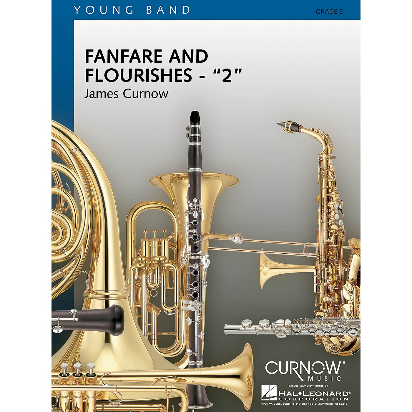 Curnow Music Fanfare and Flourishes 2 (Grade 2 - Score and Parts) Concert Band Level 2 Composed by James Curnow thumbnail