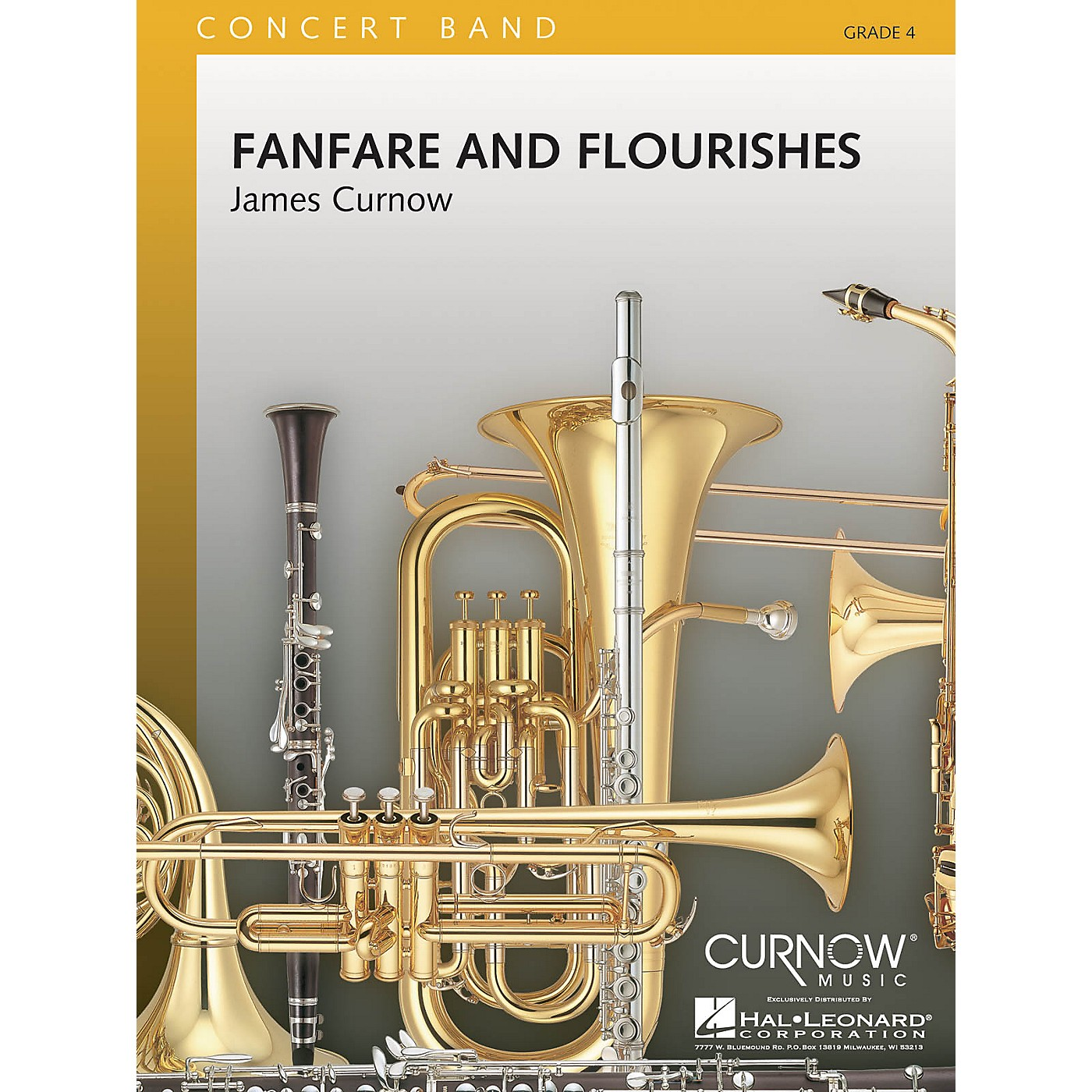 Curnow Music Fanfare and Flourishes (Grade 4 - Score and Parts) Concert Band Level 4 Composed by James Curnow thumbnail