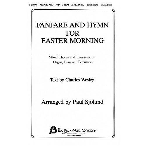 Fred Bock Music Fanfare and Hymn for Easter Morning SATB arranged by Paul Sjolund thumbnail
