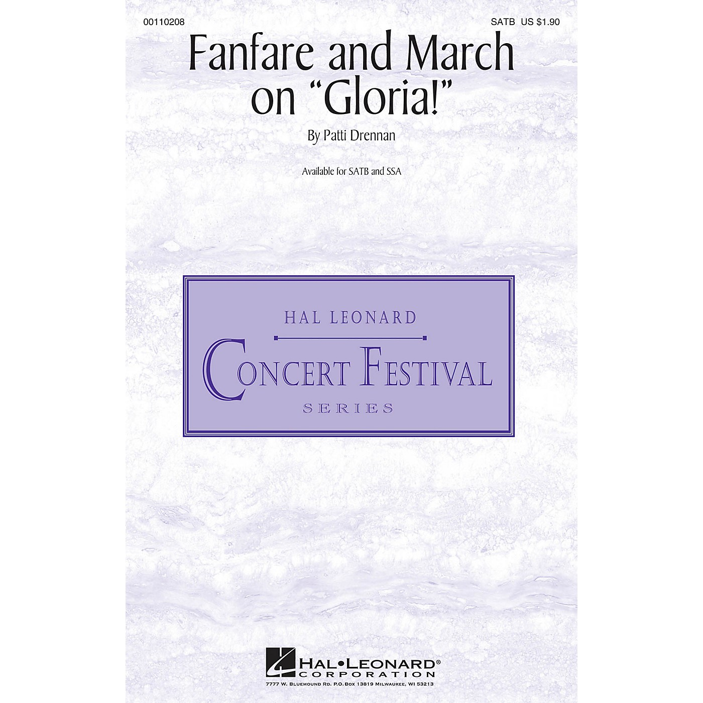 Hal Leonard Fanfare and March on Gloria! SATB composed by Patti Drennan thumbnail