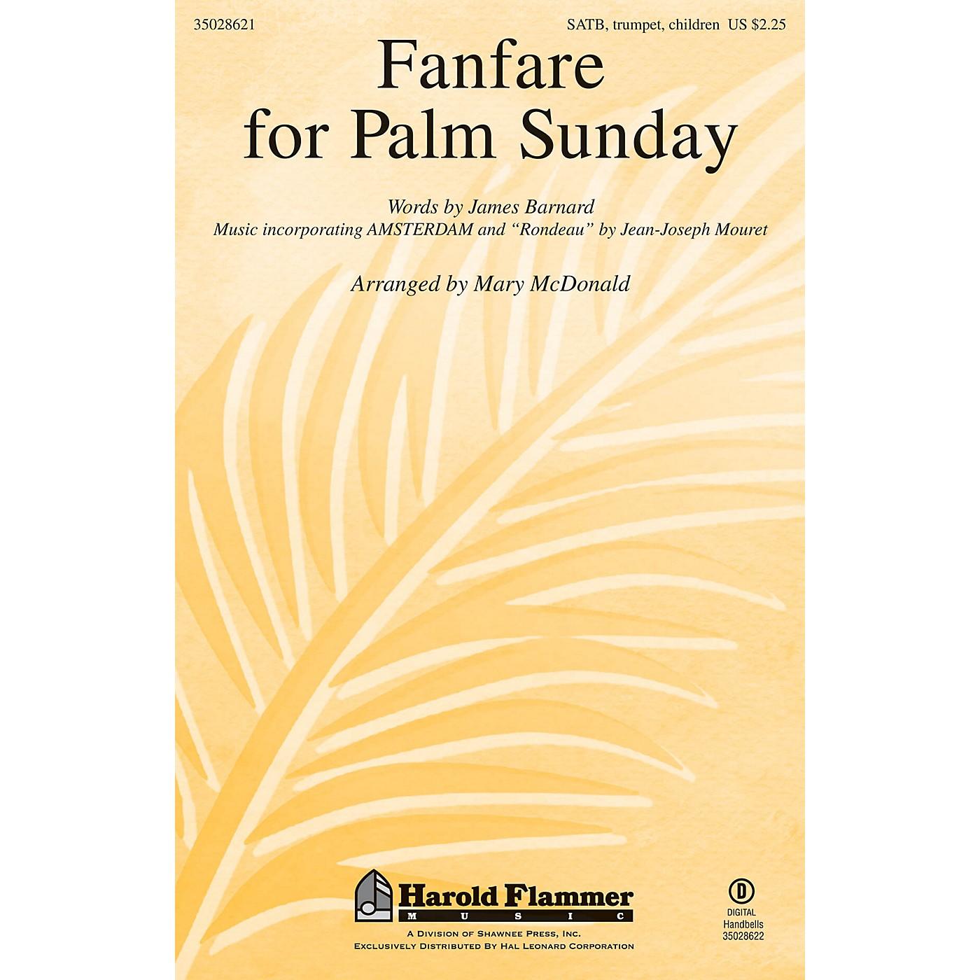 Shawnee Press Fanfare for Palm Sunday SATB arranged by Mary McDonald thumbnail