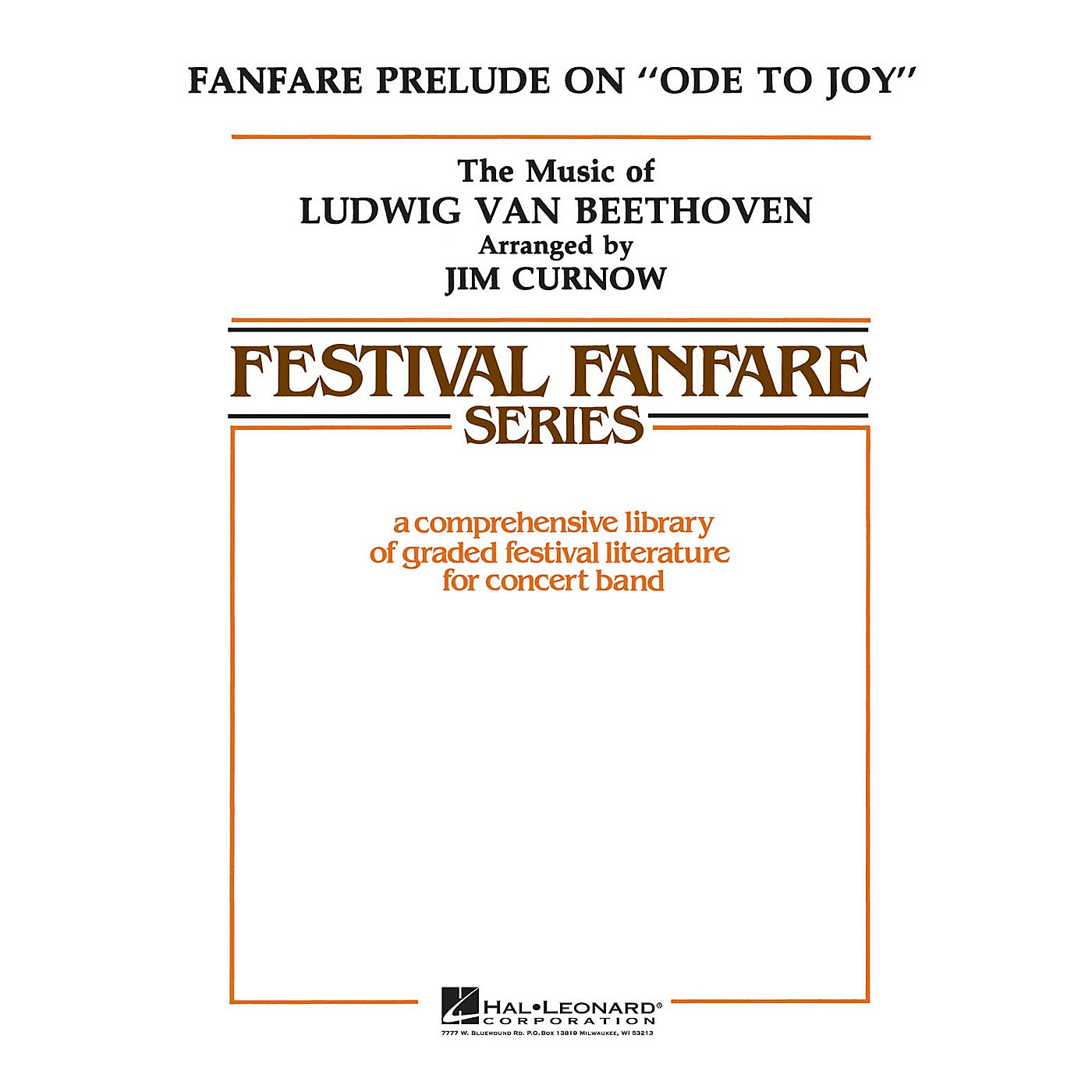 Hal Leonard Fanfare on Ode to Joy - Young Concert Band Level 3 by James Curnow thumbnail