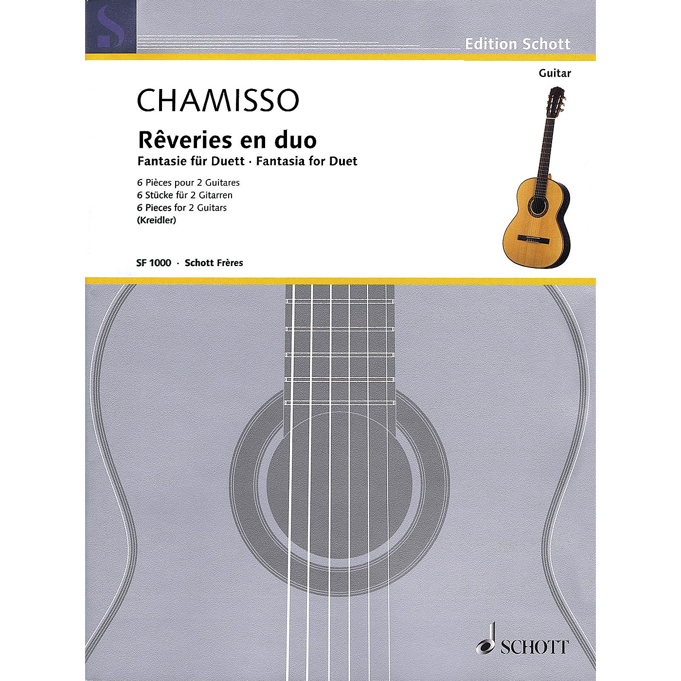 Schott Fantasia for Duet (Six Pieces for Two Guitars) Guitar Series Softcover thumbnail